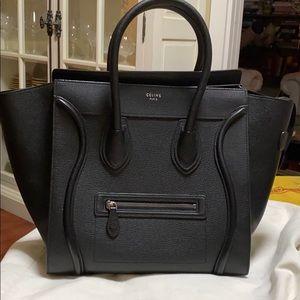 Celine black leather classic bag